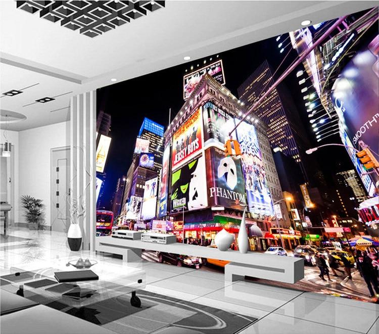Custom 3D Wall Murals New York Times Square Wallpaper City Photo ...