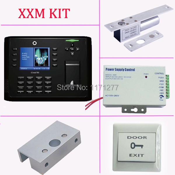 TCP/IP USB fingerprint access control and time attendance built in FRID reader +power supply+electric lock+exit button+bracket fingerprint rfid card reader keypad time attendance access control terminal usb tcp ip fast and reliable performance