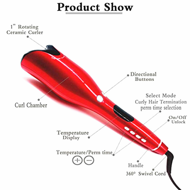 Automatic Curling Iron Air Curler Spin & N Curl 1 Inch Ceramic Rotating Curler Curlers Hair Styling Tools 2