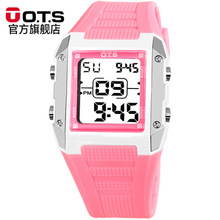 OTS Children's Carton Rectangle Kids Watches Candy Colors montre enfant Sports LED Digital Waterproof Students Gift Wristwatches