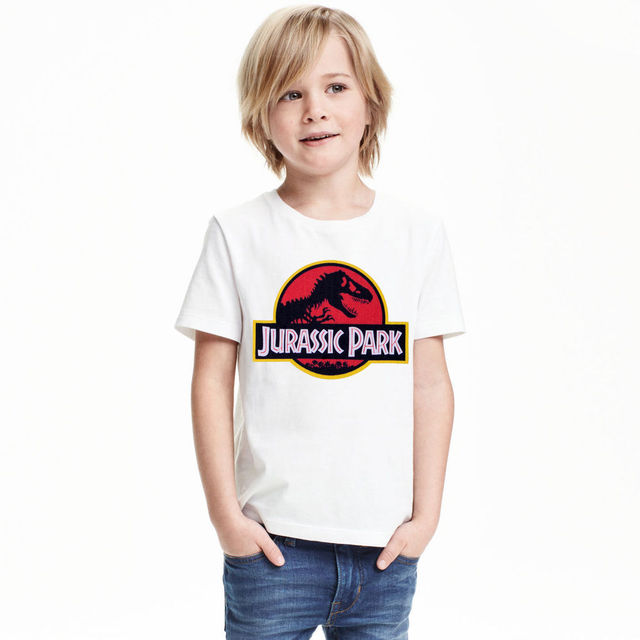 2017 Boys T shirt Jurassic Park NOVA Kids Super Dinosaurs The Boy's Fashion Cotton Leisure T-shirts With Short Sleeves