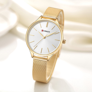 Image 2 - Curren Vrouwen Horloges Luxe Horloge Relogio Feminino Klok Voor Vrouwen Milanese Staal Dame Rose Goud Quartz Dames Horloge Nieuwe