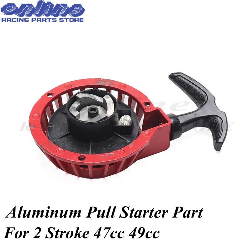 Aluminum Pull Start Recoil Starter Part For 2 Stroke 47cc 49cc Engine Pocket Bike Mini Moto Dirt Kids ATV Quad 4 Wheele