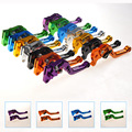 One pair 7 color high quality Aluminum CNC motorcycle modified hand brake lever GY6 JOG scooter adjustable handlebar