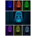 Новый Волшебный Светильник Star Wars Characther 3D Черный Рыцарь СВЕТОДИОДНЫЙ Сенсорный Переключатель Небольшой Ночник Освещение Рождественские Подарки USB лампы