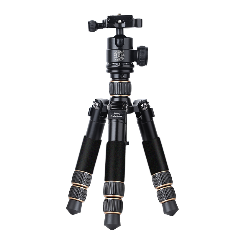 Foldable  Light Weight And Short Carbon Fiber Table Mini Tripod & Camera Kit Fold Only 20cm And Weight Is 0.916kg