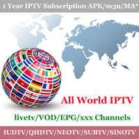 1 年 IPTV サブスクリプション QHDTV NEOTV プロ IUDTV Subtv SINOTV IP テレビヨーロッパアラビアオランダカナダ米国ポルトガルスウェーデン送料無料