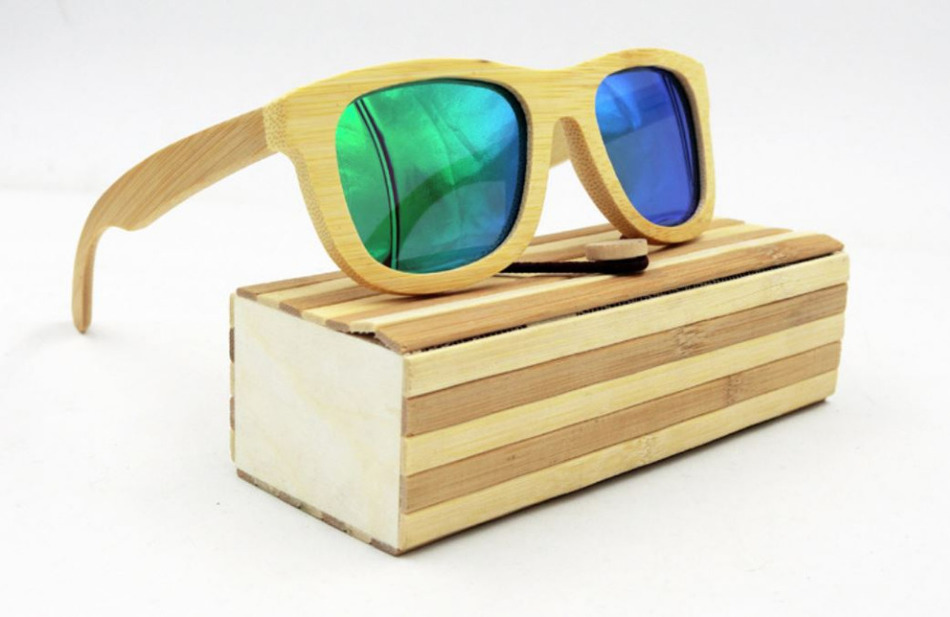 7f51f80af Novo caso óculos de Madeira Feitos À Mão Do Vintage Óculos caixa de Óculos  De Sol De Bambu Natural Caso Protetor Titular Armazenamento cubóide