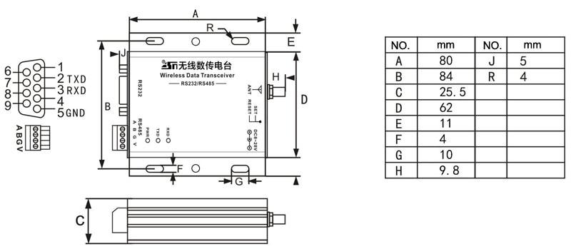 Interface Transceiver 433MHz LoRa 4
