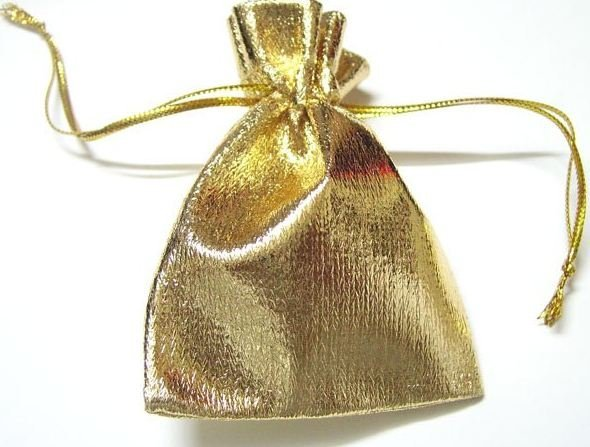 Free shipping by EMS,Gold Color Jewelry Bag Gift Bag For DIY jewelry Gift Crafts