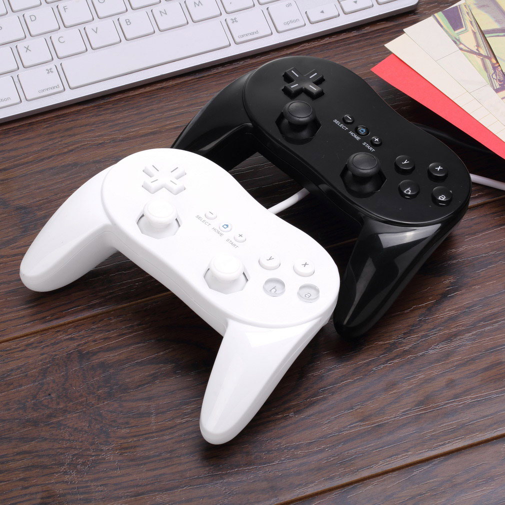 1pcs Classic Wired Game Controller Remote Pro Gamepad Shock For Nintendo for Wii black classic wired controller gamepad for nintendo wii wii u retail packed