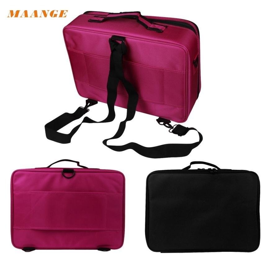 Beauty Girl 2017  Professional Makeup Bag Cosmetic Case Storage Handle Organizer Artist Travel Kit Jun.14 nyx professional makeup кейс визаж beginner makeup artist train case beginner