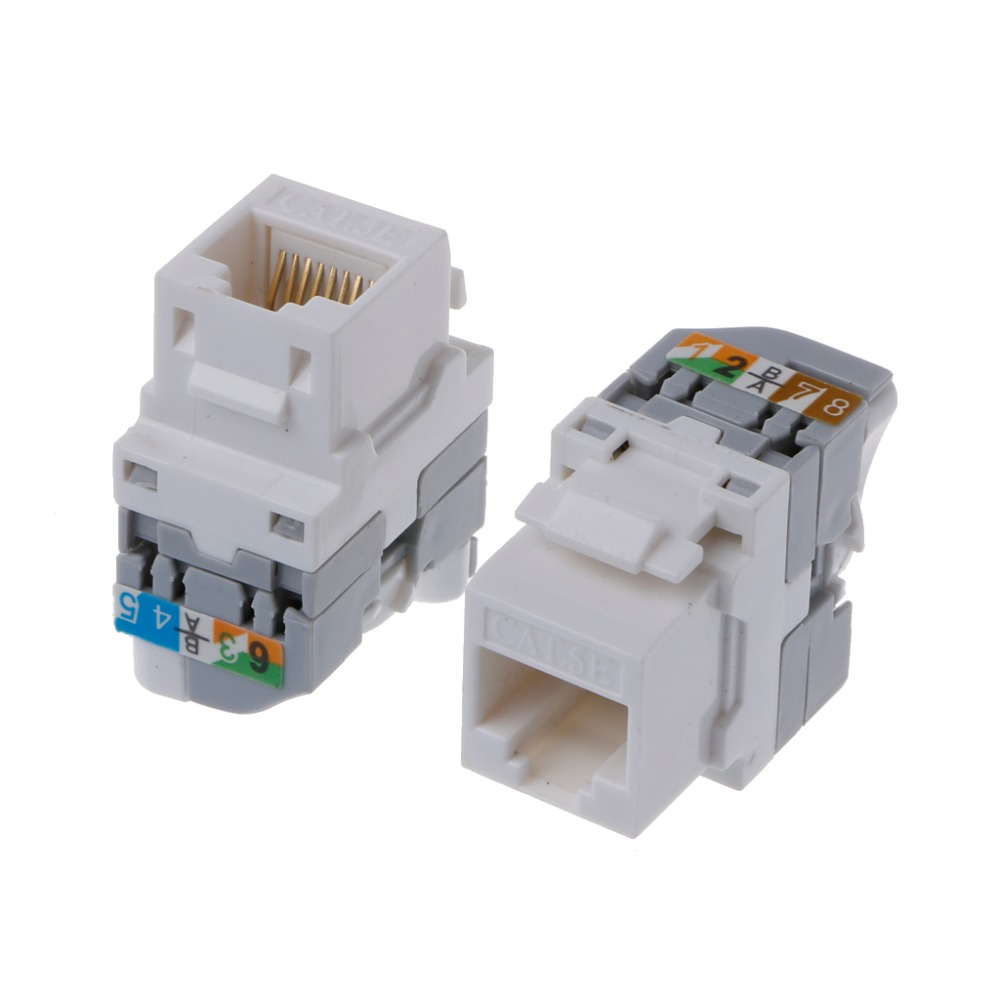 OPEN-SMART Network Module Switch Twist-turn Wire Gold Plated RJ45 Connector Tool-free Jack