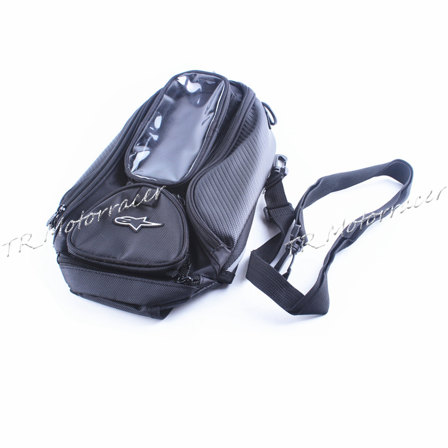 Fuel Tank Bag Universal Motorcycle Motorbike Waterproof Backpack Black Fabric Replacement New east fuel tank cover universal type