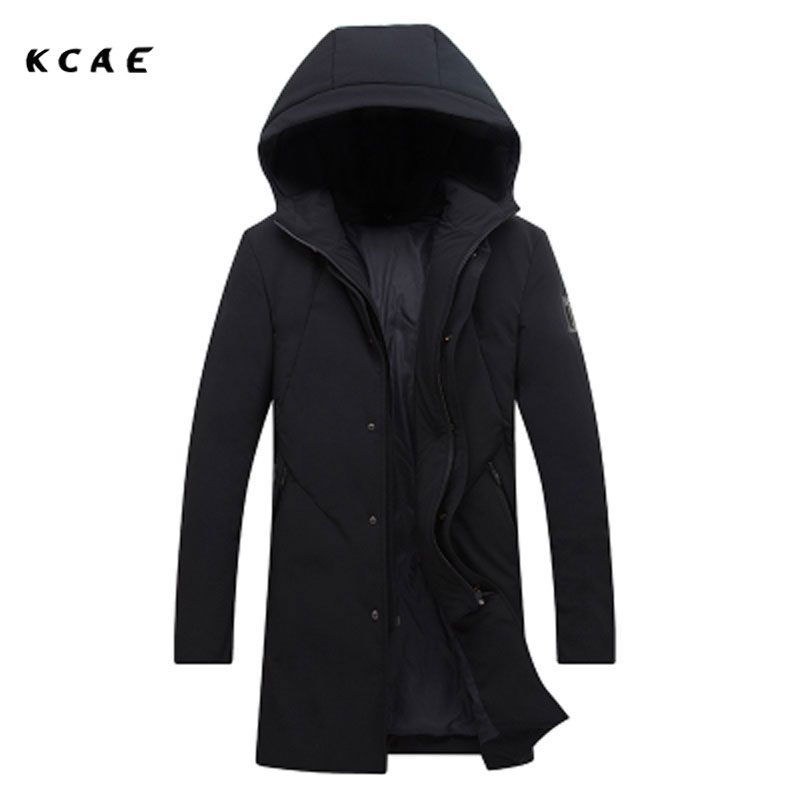 2017 new Men's jacket Korean version of the self-cultivation with a thickening of the Warm clothing Men's long Fashion jacket цены онлайн