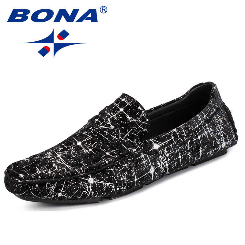 79248fce6bf BONA New Arrival Classics Style Men Casual Shoes Slip On Male Boat Shoes  Flock Men Loafers