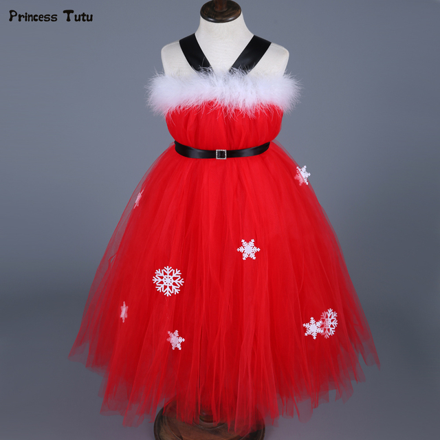 children christmas dresses for girls new year clothes kids baby girls xmas party tutu dress costumes - Christmas Dresses
