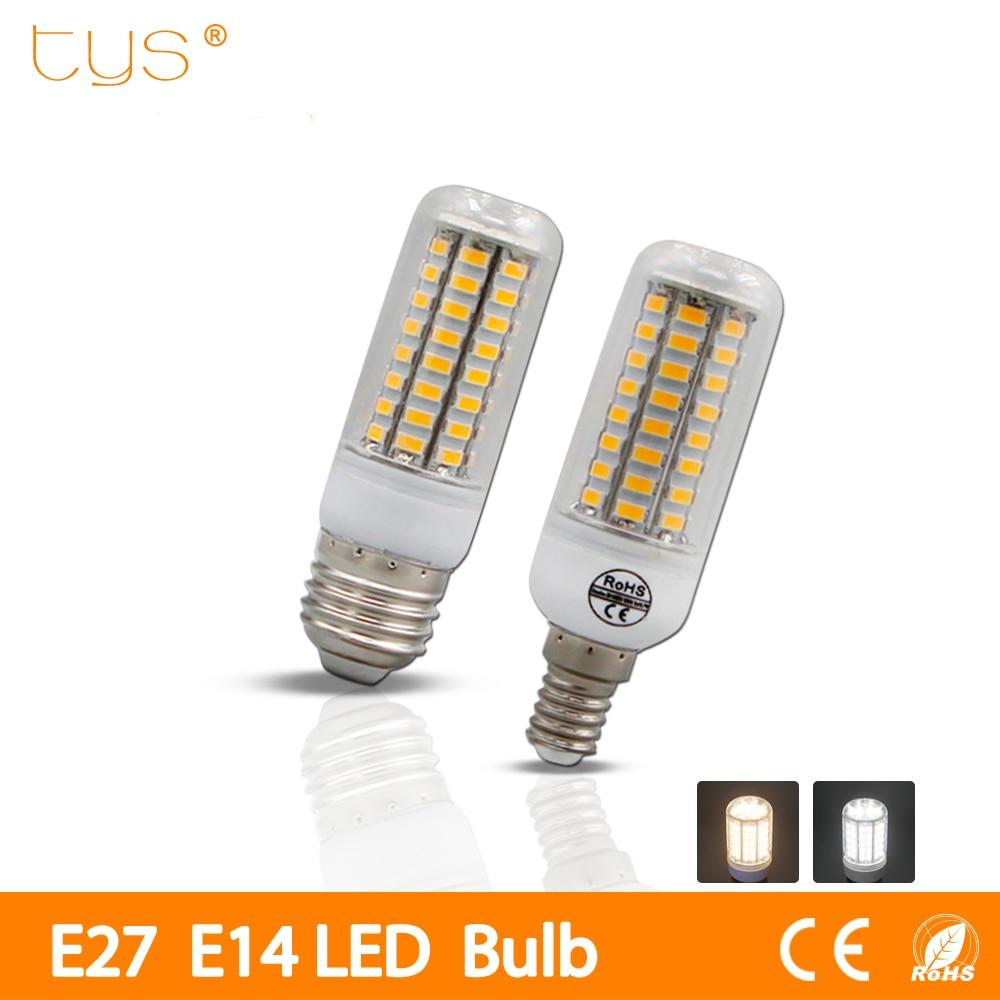 E27 светодиодные лампы E14 светодиодные лампы SMD5730 220 В 230 В свет 24 36 48 56 69 72leds мозоли люстры для украшения дома