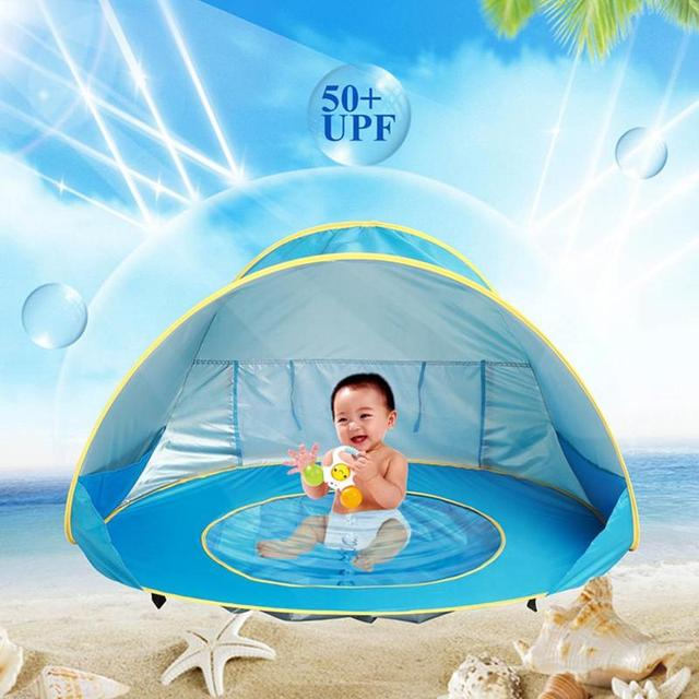 Portable Children's ocean outdoor sun protection pool beach castle ball pool toy house 4