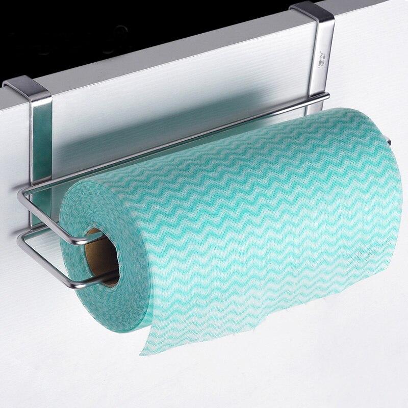 Bajo armario Rack Estante Colgador de papel de cocina Toalla soporte de almacenamiento roll uno
