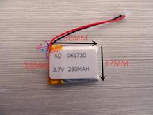 Mouse sem Fio V de Polímero Melhor Marca DA Bateria 3.7 Lítio 061730 601730 Mp3 Estéreo Bluetooth 280 Mah