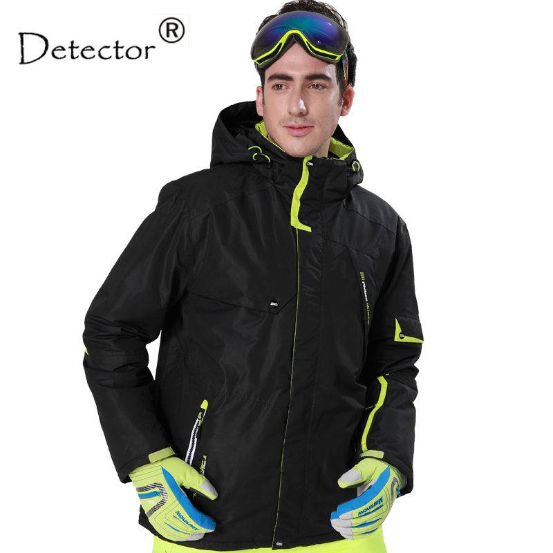 Detector Men's Black and Blue Hight Waterproof Mountain Hiking Camping Jacket Fleece Hight Windproof Ski Jacket detector men ski jacket hight waterproof mountain hiking camping jacket fleece hight windproof ski jacket