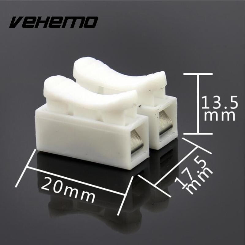VEHEMO 30PCS Lamp Quick Spring Clamp No Screw Weding Solding Cable Wire Connector Terminal Block Accessories
