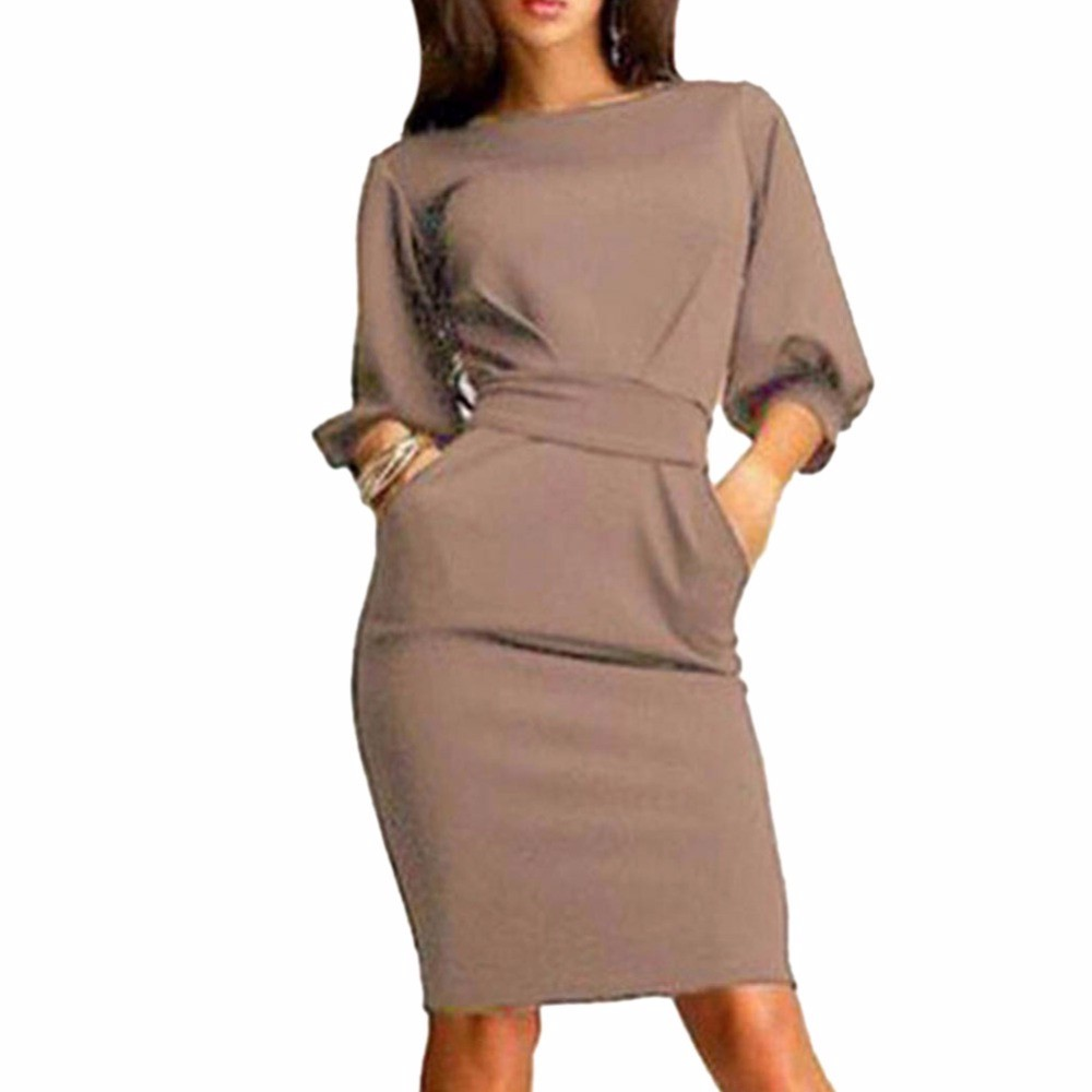 Summer Women Dress 2017 Half Sleeves Office Mini Dress O-Neck Elegant Ladies Bodycon Bandage Slim Party Dress Vestidos
