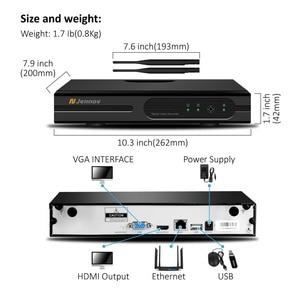 Image 3 - Jennov H.264 5MP 4CH Домашняя безопасность беспроводная камера системы видеонаблюдения набор камера наблюдения WIFI NVR Беспроводная 1080P IP камера наружная IR Cut