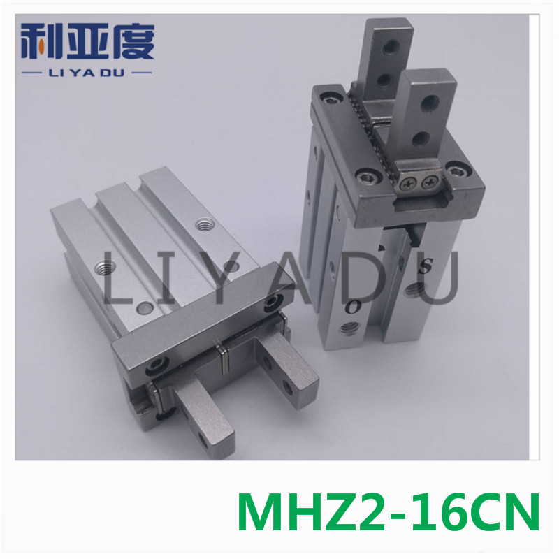 MHZ2-16CN pneumatic finger cylinder Double Acting 16MM Bore parallel open double-acting air claw mhz2 6s mhz2 6s1 mhz2 6s2 high quality pneumatic finger cylinder parallel open single action open air claw