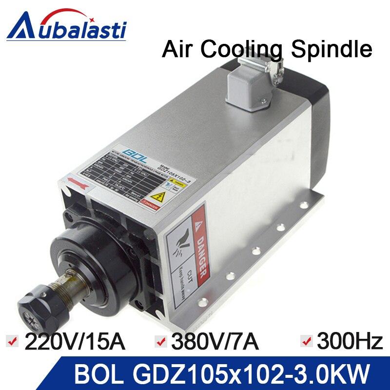 Бол воздушного охлаждения шпинделя 3.0kw ЧПУ шпинделя GDZ105 * 102 3,0 3.0kw 220 Чак гайка ER20 смазки air cooling 18000r/мин 300 Гц