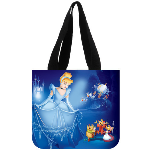 Us 11 99 Custom Shoulder Bag Classical Cartoon Character Cinderella Tote Bag Teenage Girls Handbag Personalized Tote Bags Factory Direct In