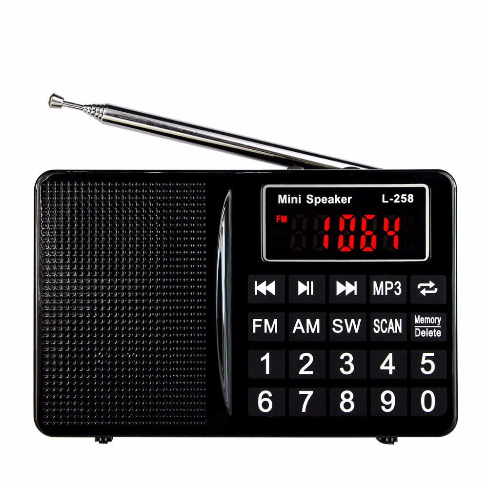 5pcs 3 Color FM/AM/SW Radio Bass Sound MP3 Music Player Multimedia Speaker Multiband Radio Receiver Best Y4405
