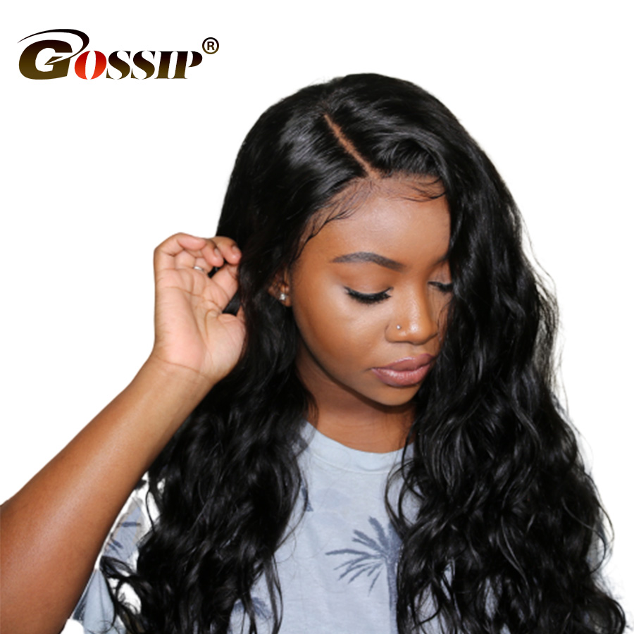 Gossip Body Wave Lace Front Human Hair Wigs With Baby Hair 10-24 Inch Malaysian Non Remy Wigs For Black Women Natural Hairline