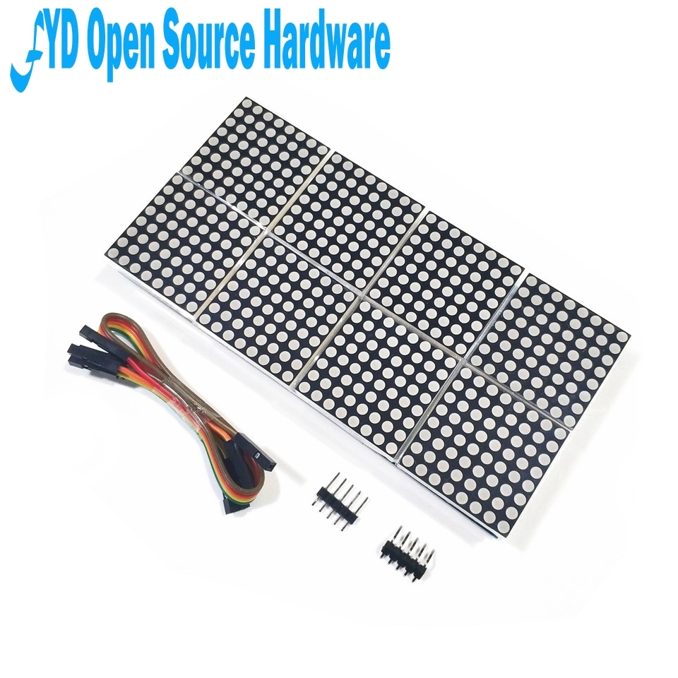 1pcs MAX7219 Dot Matrix Module 8 Dot Matrix 2*4 Display Module MCU Control Driver Module