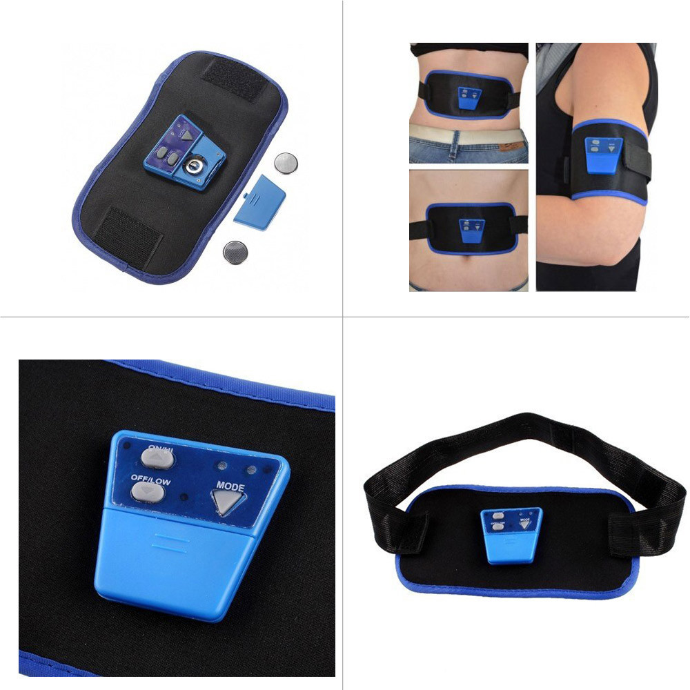 Slimming Body Muscle Massage AB Gymnic Electronic leg Waist Massager Arm Belt Slimming Product Relaxation Braces Supports