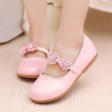 Femelle enfants chaussures de princesse fille étudiants de mode plat chaussures en gros à la main fleurs fabricant chaussure garcon 716