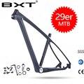 Бесплатная доставка BXT 29er/27,5 er <font><b>mtb</b></font> карбоновая рама 29 карбоновая рама для горного велосипеда 142*12 или 135*9 мм велосипедная Рама