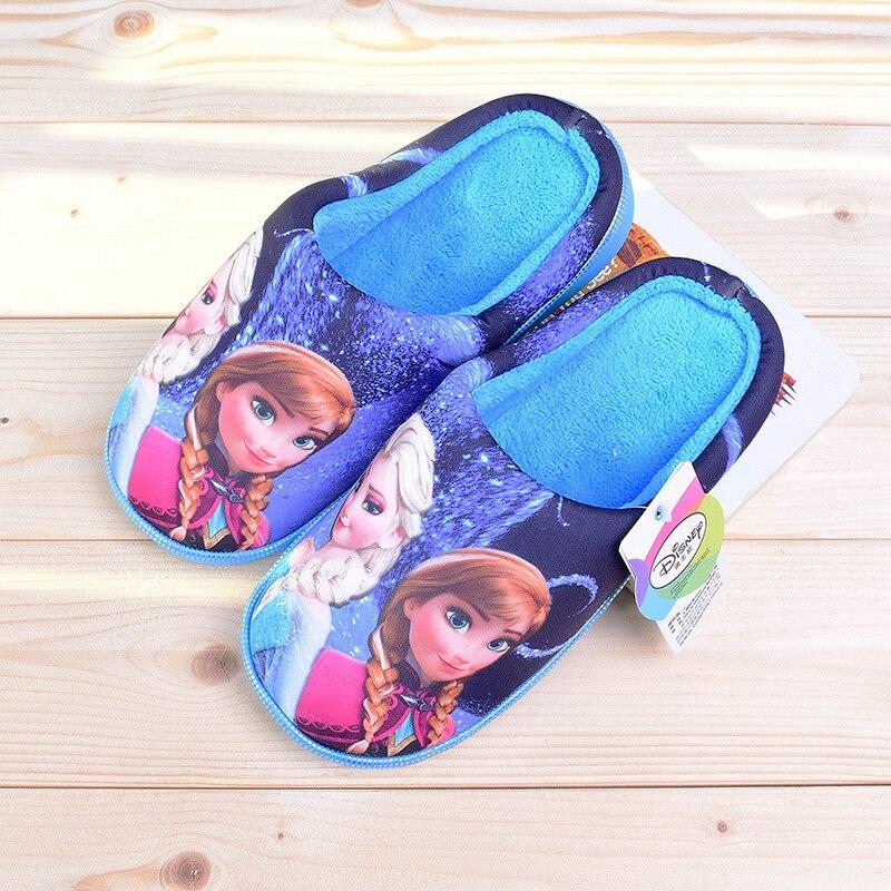 2017 Kinder Hausschuhe Winter Warme Kinder Schuhe Mädchen Cartoon Elsa Anna Casual Homewear Süße Indoor Haus Pantoffel FüR Schnellen Versand