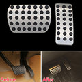 No Drill Accelerator Fuel Brake Nonslip Foot Pedal Pad Plate Cover Decoration for Benz M GL R Class AMG 2006-2015 Car Styling
