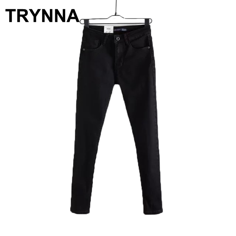 Women Jeans Black Slim Winter Mujer Ripped High Waist Jeans Demin Capri  Trousers(China) - Compare Prices On Ripped Capris Jeans- Online Shopping/Buy Low