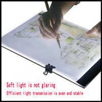 USB alimenté Ultra-mince A4 LED planche à dessin Pad Animation traçage boîte à lumière Lightbox tablette toile blanche pour la peinture