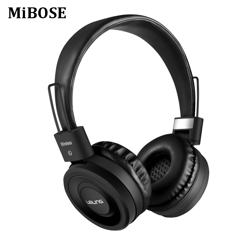 MiBOSE Bluetooth Headphones Wireless Foldable Headset With Mic Bass Gaming Headset For iphone Xiaomi PC sport fone de ouvido hot sale ttlife noise cancelling headphones fone de ouvido bluetooth 4 1 headset portable bass stereo gaming earphone for gamer