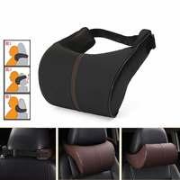PU Leather Auto Car Neck Pillow Rest Memory Foam Pillows Ergonomic Seat Headrest Pad