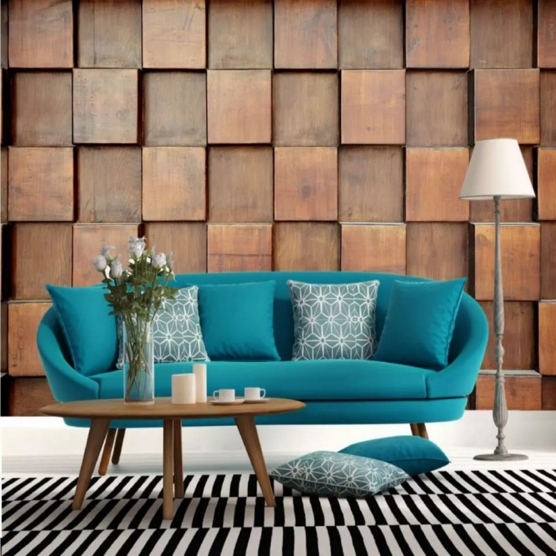 цены Custom photo wallpaper 3D stereo retro wood Wood grain wallpaper mural KTV room restaurant Cafe photo wallpaper