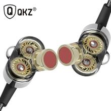 Cheap price QKZ KD2 Earphone fone de ouvido auriculares Dual Driver Extra Bass Turbo Wide Sound gaming headset mp3 DJ go pro auricular