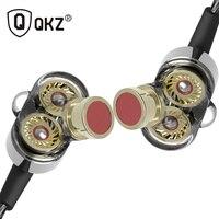 QKZ KD2 Earphone Fone De Ouvido Auriculares Dual Driver Extra Bass Turbo Wide Sound Gaming Headset