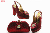 hot selling Italian Women Shoe and Bag Set African Matching Shoes and Bags Italian In Women Party Shoes! HSN1 24
