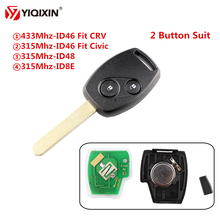 YIQIXIN 2 Button Remote Key Suit 315/433Mhz Chip ID46/ID48/ID8E For Honda Accord Element CR-V HR-V Odyssey Shuttle Civic