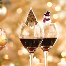 FENGRISE Christmas Wine Bottle Cover Table Decoration Christmas Gift Christmas Hats Cap Santa Claus Bottle Cover Xmas Party Gift